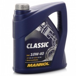 Масло Mannol Classic 10W40 SN/CF A3/B4 (5л) п/с