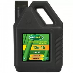 Масло OIL RIGHT ТЭП-15В 90W GL-2 нигрол 3л